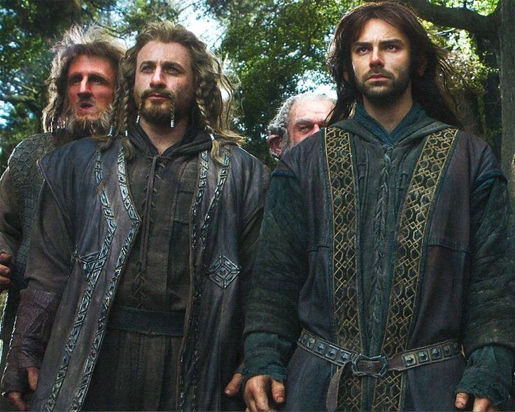 Ori, Fili, Dori, and Kili.  THE COSTUMES!!! HNNG  There are no words for how much I love LotR/Hobbit costumes.