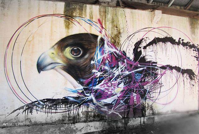 Bird Street Art on the Streets of Brazil by L7m