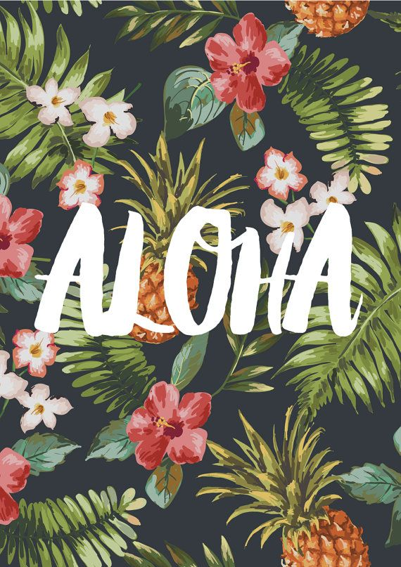 Aloha // Typography Print, Motivational Print, Inspirational Print, Wall Art…
