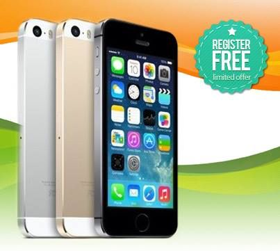 Win an Iphone5s by signing up for free with Khelmobile. Do it here: www.khelmobile.com