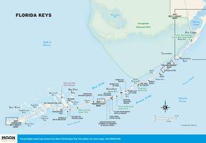Travel map of the Florida Keys|moon.com