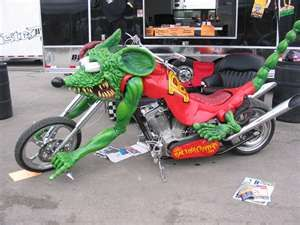 Rat Fink Custom Motorcycle Chopper