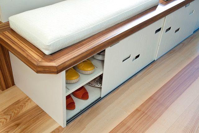 shoe storage under bench