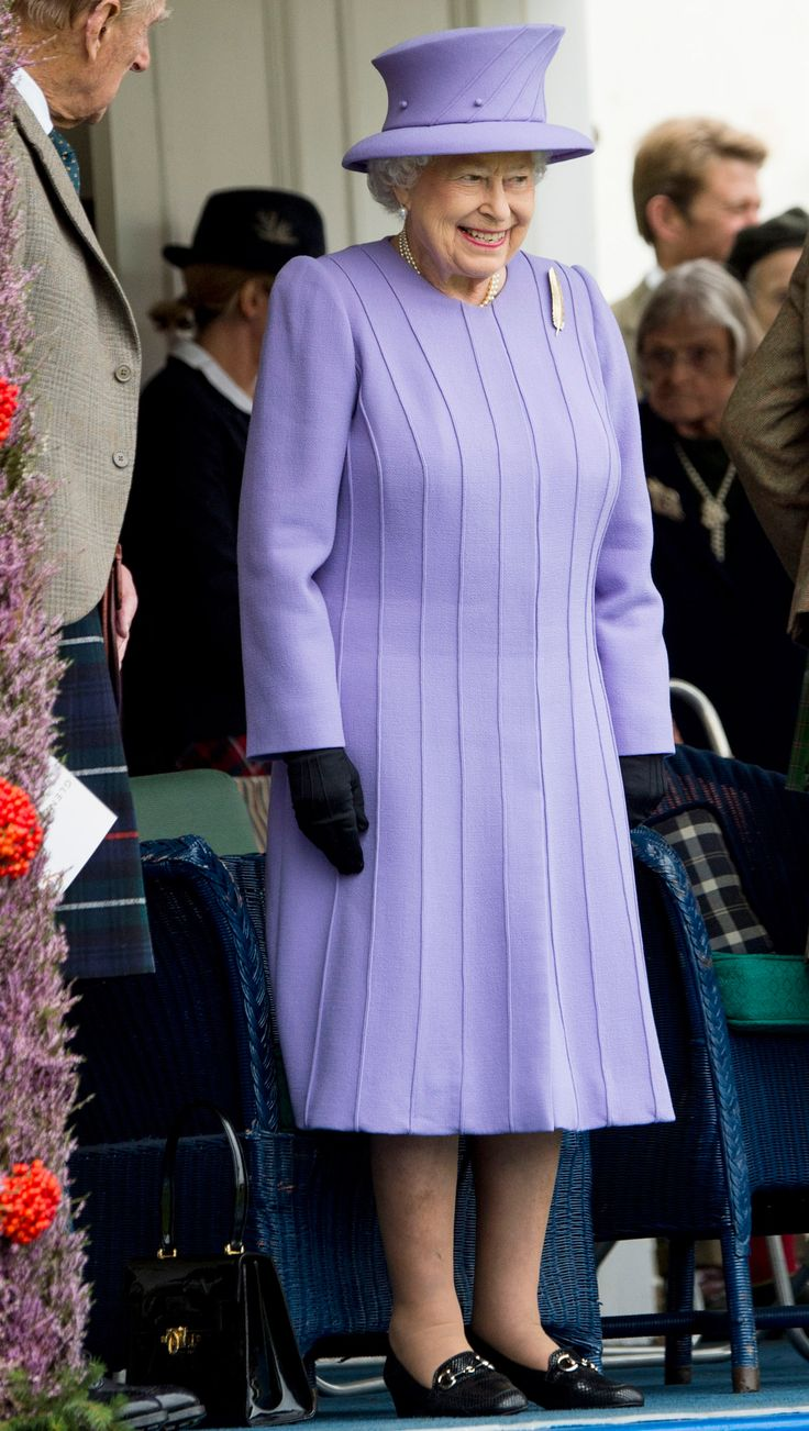 LILAC – FEBRUARY 23, 2016  Queen Elizabeth donned a lilac coat and hat for a ceremony at the Bond Street station where a London train line was named in her honor.