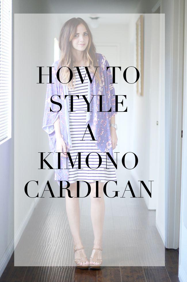 Tips to style a DIY kimono cardigan!