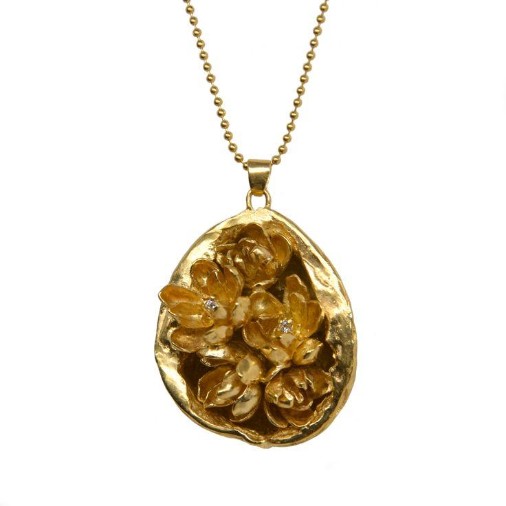 Carolina Curado Half Walnut Necklace www.carolinacurado.com