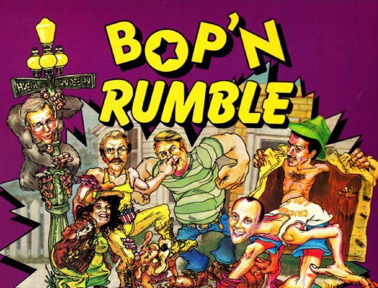 Bop´n Rumble, Street Hassle, Bad Street Brawler oder Oma Schreck (ja, wirklich) - ein Spiel mit unterschiedlichen Identitäten. Und das wortwörtlich, da nicht nur der Titel an die jeweilige Region bzw. das System angepasst wurde.   #1987 #action #Bad Street Brawler #beat em up #brawler #C64 #commodore 64 #politisch inkorrekt #Power Glove #street hassle