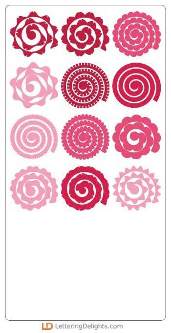 12 flores quilled em SVG e outros formatos de arquivos