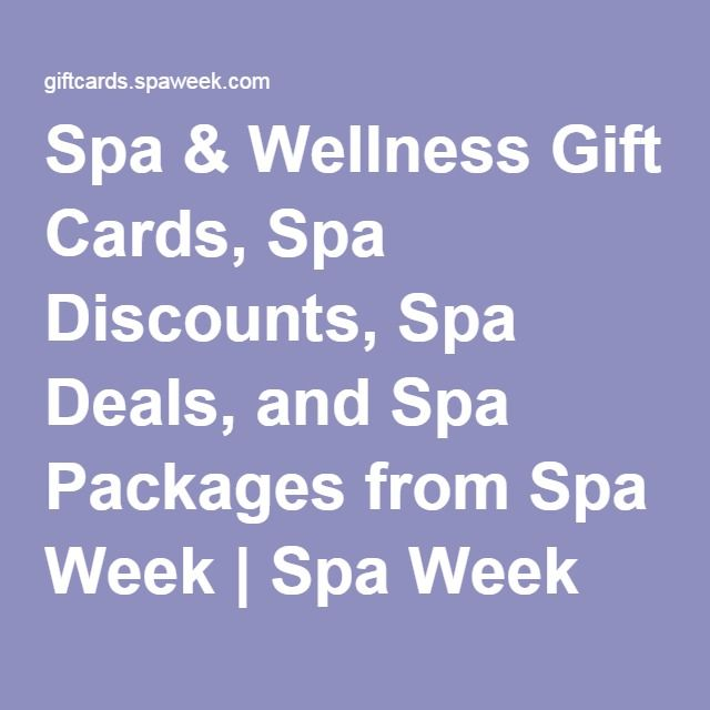 Spa & Wellness Gift Cards, Spa Discounts, Spa Deals, and Spa Packages from Spa Week | Spa Week