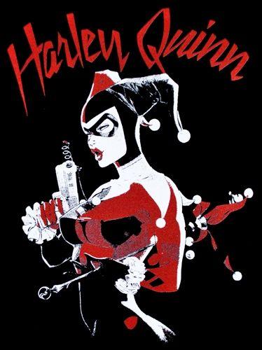 Image de Tee Shirt Femme BATMAN - Harley Quinn Draw