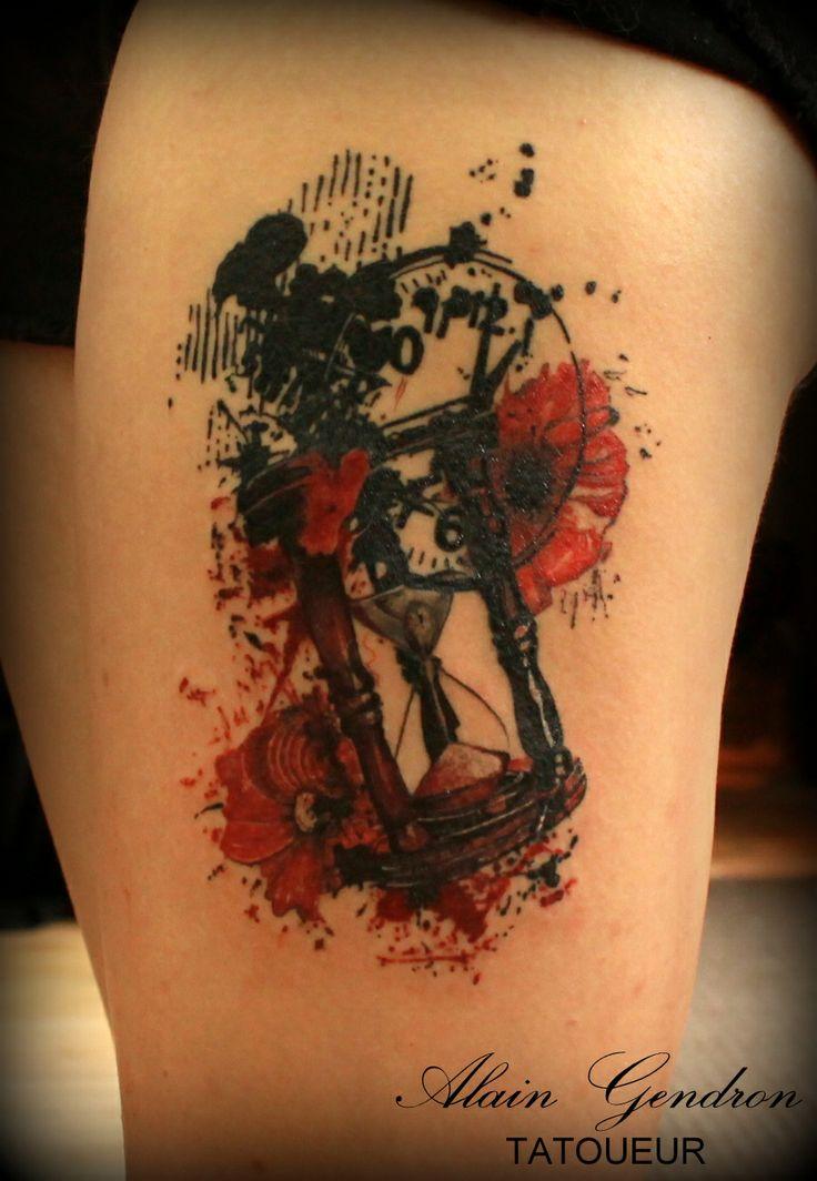 Hourglass tattoo trash  15 best trash polka images on Pinterest   Trash polka tattoo ...