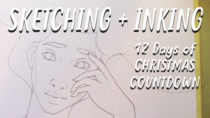 12 Days of Christmas Countdown - Sketching and Inking || Silver Filigree 3