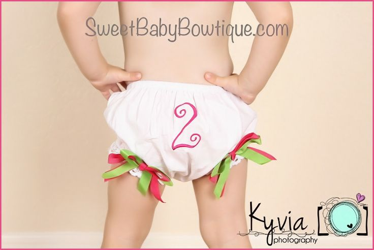 OMG the MOST ADORABLE baby headbands and newborn headbands! www.sweetbabybowtique.com! Birthday Bloomers Diaper Cover