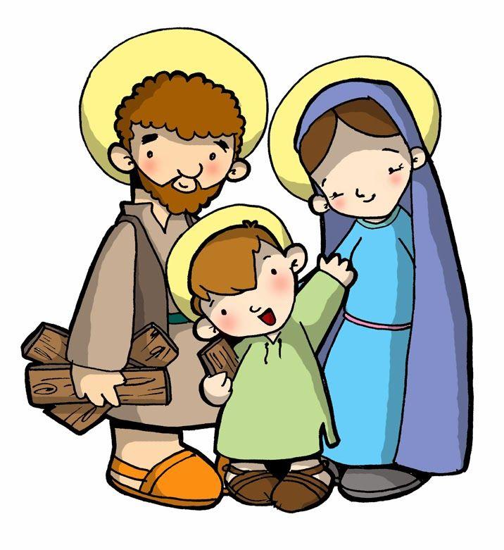 Dibujos para catequesis: LA SAGRADA FAMILIA DE JESÚS, MARÍA Y JOSÉ
