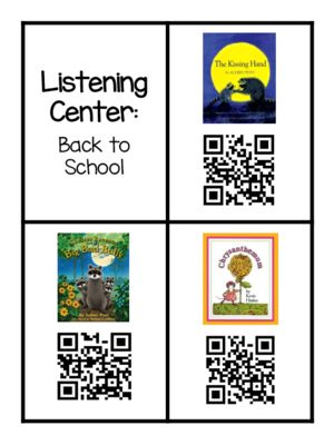 Back to School QR Code Books from Kindergarten Busy Bees on TeachersNotebook.com (11 pages)