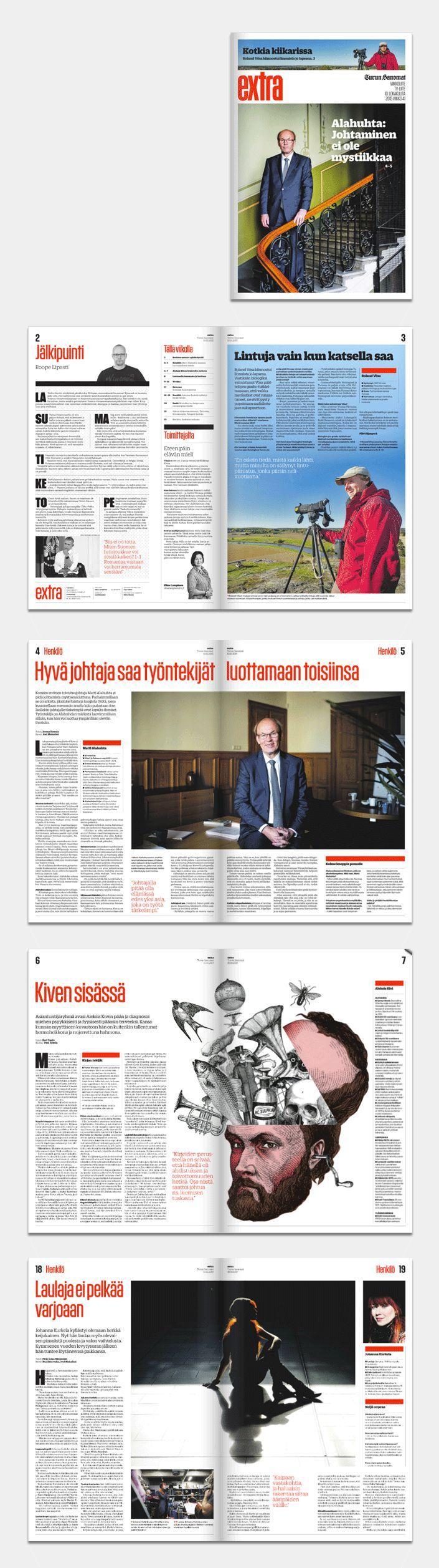 Diseño periodístico / rediseño del periódico finlandés Turun Sanomat