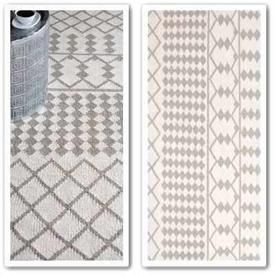 HF Albania Rug  A classically understated geometric kilim, handwoven in undyed wool, with excellent durability.
