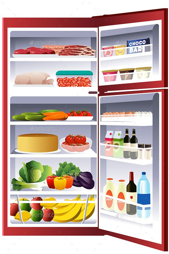 Refrigerator Full Food Clip Art