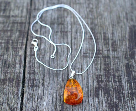 baltic amber necklace / amber necklace/ amber silver necklace/