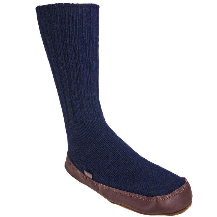 Acorn Slippers Women's A10118 CWL Cobalt Original Wool Slipper Socks