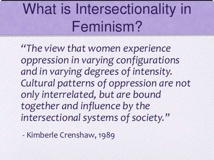 should intersectional feminism recognises - 736×551