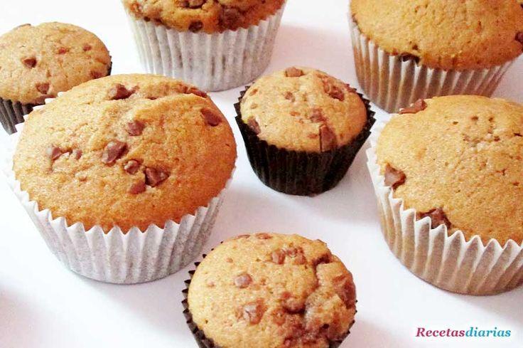 Cómo hacer Magdalenas de Nutella. Una receta muy fácil y sencilla para hacer unas magdalenas con un toque de chocolate nutella.