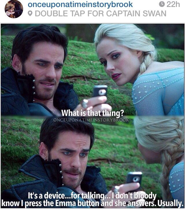 HOOK USING A CELL PHONE TO CALL EMMA IS PERFECT