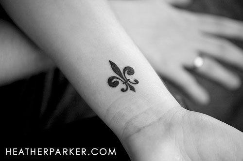 Fleur de lis tattoo