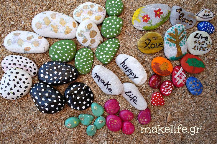 Παιχνιδιάρικη ζωγραφική σε πέτρες και βότσαλα-makelife.gr