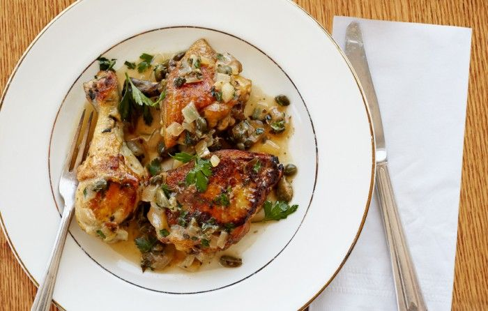 Braised Chicken with Capers and Parsley (Total time - 1 1/2 HRS: 4 T ...