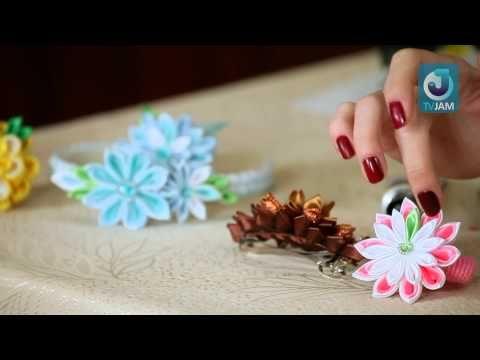 """http://www.tvjam.ru/channel/zadelo/ - следите за обновлениями канала """"ZaДело!"""" на сайте TVJAM    Канзаши - это длинная шпилька из дерева, серебра и черепахового панциря, с помощью которой крепятся традиционные причёски японских женщин. Так же называют искусство создания цветов из ткани. Мастер по канзаши Марина Лавренко проводит мастер-класс по со..."""