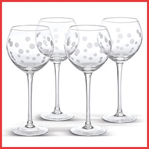 Pin It to Win It - Frosted Dots Glasses - a great gift idea with a bottle of wine