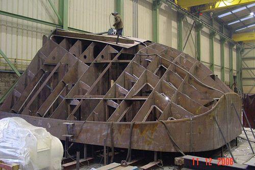 Stern vessel construction