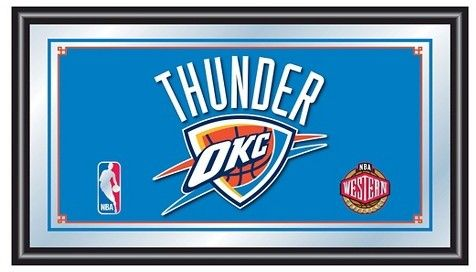 NBA Oklahoma City Thunder Team Logo Wall Mirror