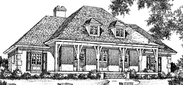 Louisiana country house plan sl 165 though i don 39 t love for Southern french country house plans