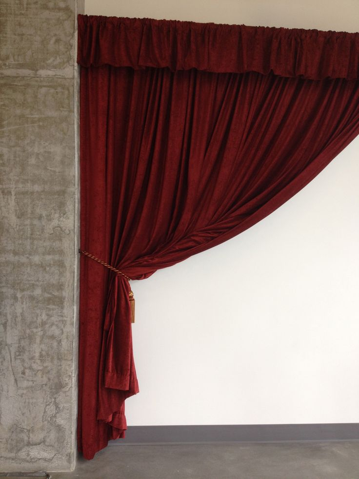Fire Resistant Velvet Curtain Elegantly Used As A Wall Cover Turn A Plain Wall To An Eye
