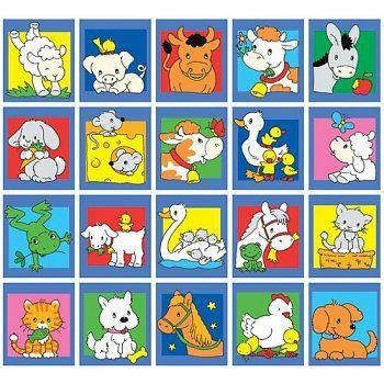Stammetjes serie 83 - getekende lieve boerderij dieren
