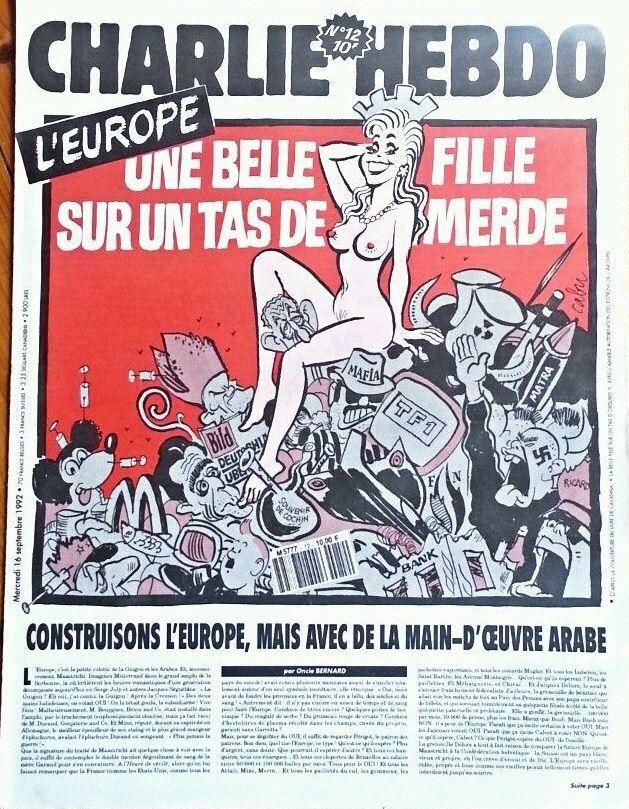 Charlie Hebdo - # 12 - 16 Septembre 1992 - Couverture : Cabu