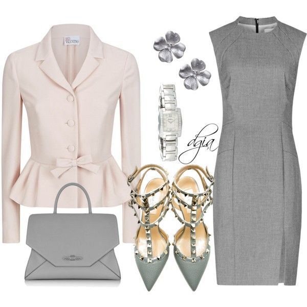 A fashion look from September 2014 featuring Reiss dresses, RED Valentino jackets y Valentino pumps. Browse and shop related looks.