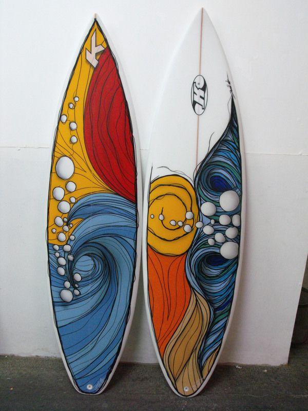 Surfboards Art by Ronald Artx, via Behance