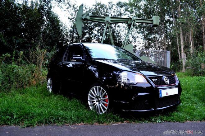 Volkswagen VW Polo 9N3 GTI CUP Edition Modelljahr 2008 mit der Motorisierung 1.8T - 132 kW (180 PS) in der Farbe Black Magic Perleffekt vom Mitglied Mave aus Seevetal