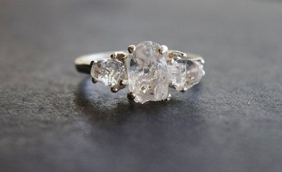 20 Etsy Shops For Engagement Rings - rough diamond engagement ring (Wedding) alternative engagement ring