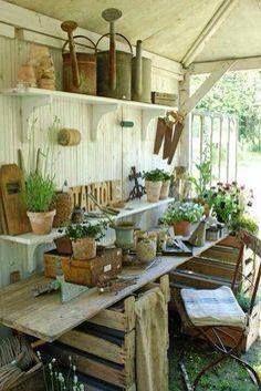 Potting shed - @Liz Wilson Vines