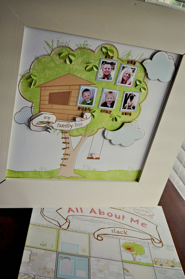 How to make scrapbook for school project - Family Tree Scrapbook Page