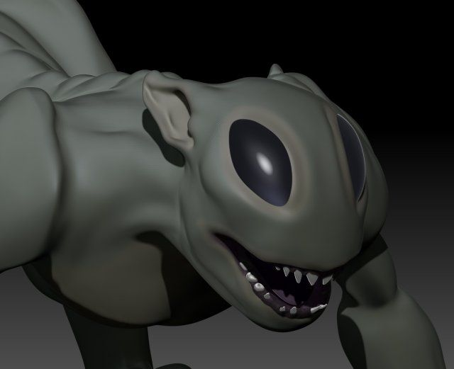 3D Alien for sale by Virtwo @ 3DExport