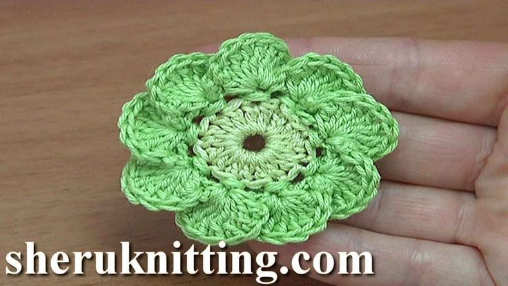 More video patterns here https://www.sheruknitting.com/crochet-tutorials/flowers.html Today I'm gonna to work with this cute simple crochet 9-petal flower.
