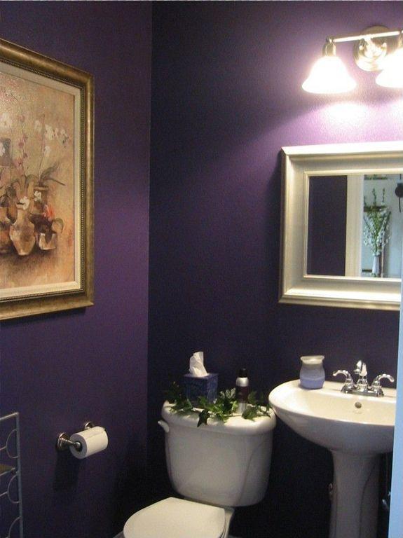 35 Powder Room Design Ideas Photos Powder Room Design Powder Room Decor Purple Bathrooms
