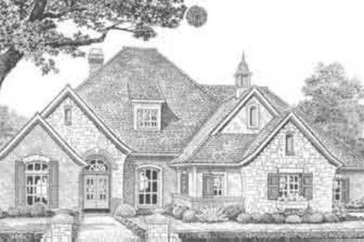 European Style House Plan - 4 Beds 3.50 Baths 2998 Sq/Ft Plan #310-390 Exterior - Front Elevation - Houseplans.com