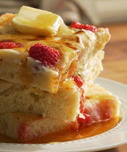 Sheet pan buttermilk pancakes -https://www.realsimple.com/food-recipes/browse-all-recipes/sheet-pan-pancake