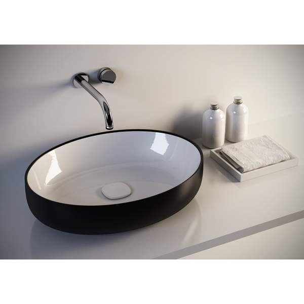 Fosi Oval Ceramic Vessel Sink Bowl Above Counter Sink Lavatory